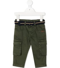 lapin house belted cargo trousers - green