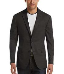 awearness kenneth cole charcoal check slim fit sport coat