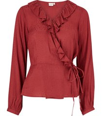 omlottblus sally wrap blouse