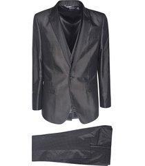 dolce & gabbana dotted motif suit