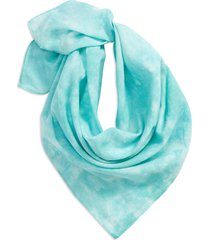 madewell tie-dye organic cotton bandana in cool blue at nordstrom