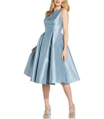 adrianna papell boat-neck a-line dress