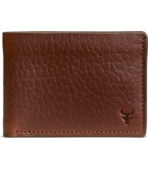 men's trask jackson leather super slim wallet -