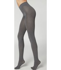 calzedonia 50 denier total comfort soft touch tights woman grey size 4