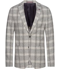 soft constructed check slim blz blazer colbert grijs tommy hilfiger tailored