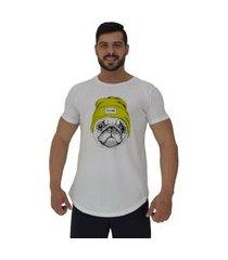 camiseta longline alto conceito dog it's cool branco