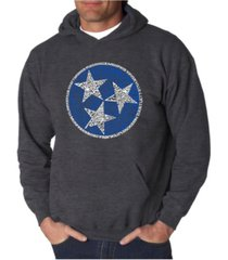 la pop art men's tennessee tristar word art hooded sweatshirt