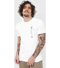 camiseta calvin klein bolso lettering branca