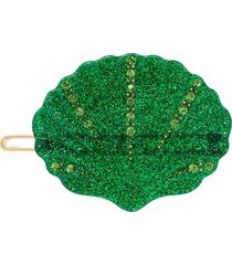 valet studio kiki shell hair clip - green
