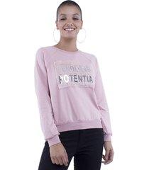 blusa moletom endless potential pop me rosa