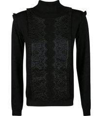 anna molinari ruffle trimmed turtleneck sweater