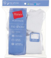 hanes women's platinum 10pk no show socks