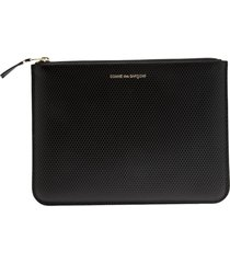 comme des garçons wallet 'luxury group' purse - black