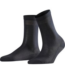 women's falke cotton delight cotton blend socks, size 37-38 - blue