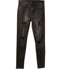 jeans gastado negro jacinta tienda