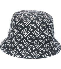 mcm reversible monogram bucket hat - black