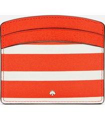 kate spade new york women's spencer stripe card holder - tamarillo multi