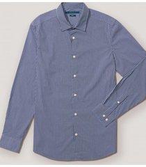 camisa casual rayas azulino perry ellis