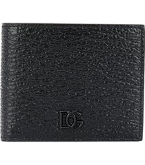 dolce & gabbana textured-leather wallet - black