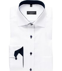 eterna comfort fit overhemd mouwlengte 7 wit