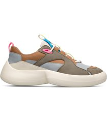 camper lab abs, sneaker donna, grigio/beige/blu, misura 41 (eu), k200913-012