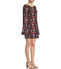 floral bell sleeve mini dress