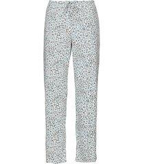 pyjamabroek van bio-katoen met elastische tailleband, taupe-motief 40/42