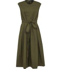 fay belt-tie waist sleeveless dress