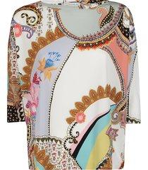 etro multicolor viscose blouse