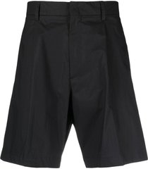 costumein straight-leg cotton shorts - black