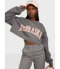 missguided graphic oversized crop sweat sweatshirts