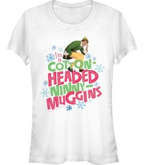 fifth sun elf i'm a cotton-headed ninny-muggins buddy quote women's short sleeve t-shirt