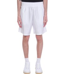 acne studios shorts in white synthetic fibers