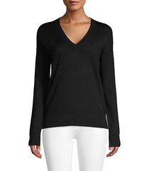 graphic v-neck merino wool sweater
