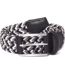 anderson's belts elastic woven belt | black/grey | af3689-021