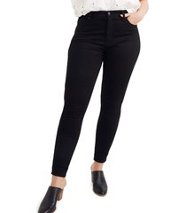 women's madewell 10-inch high rise skinny jeans, size 30 - black