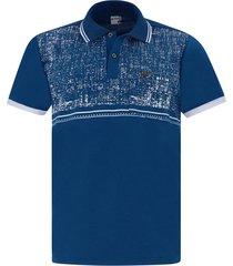 camiseta tipo polo azul oscura audax con bolsillo