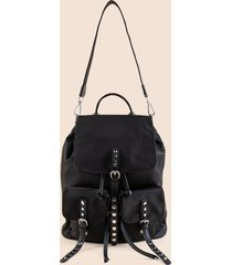women's maisie convertible studded backpack in black by francesca's - size: one size