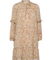recycle polyester dress ls korte jurk beige rosemunde