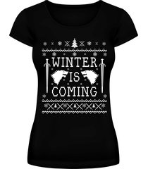 winter is coming ugly christmas sweater shirt stark womens tee