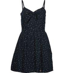 alice knot dress kort klänning blå superdry