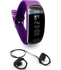 smart bracelet sm35 morado, audífono rm5 lhotse