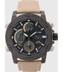 reloj negro-beige virox