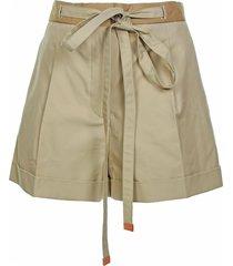 loewe loewe light brown shorts