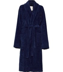 hotel velour robe morgonrock blå lexington home