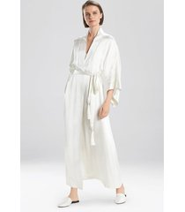 natori jolie silk sleep & lounge bath wrap robe, women's, 100% silk, size m