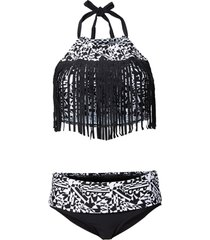 bikini med fransar (2 delar)