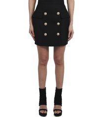 balmain black skirt