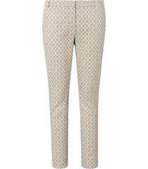 enkellange broek met minimal-dessin van laura biagiotti roma multicolour