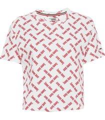 tjw aop tee blouses short-sleeved multi/mönstrad tommy jeans